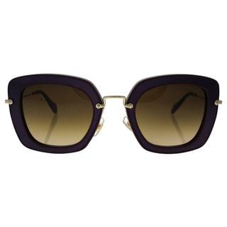 Miu Miu MU 07O UFY-6S1 - Women's Amaranth/Brown Gradient Sunglasses