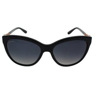Bvlgari BV8158 501/T3 - Women's Black/ Grey Polarized Sunglasses
