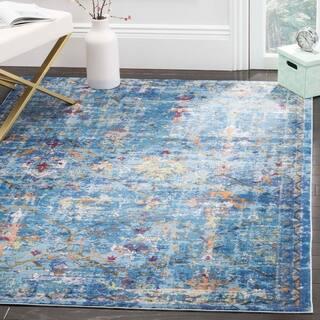 Safavieh Valencia Blue Multi Distressed Silky Polyester