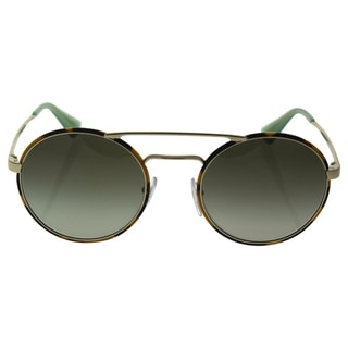 Prada SPR 51S 7S0-4K1 - Women's Pale Gold/Green Gradient Grey Sunglasses