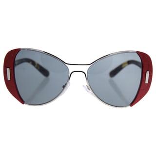 Prada SPR 60S SMN-9K1 Women's Red Metal Sunglasses