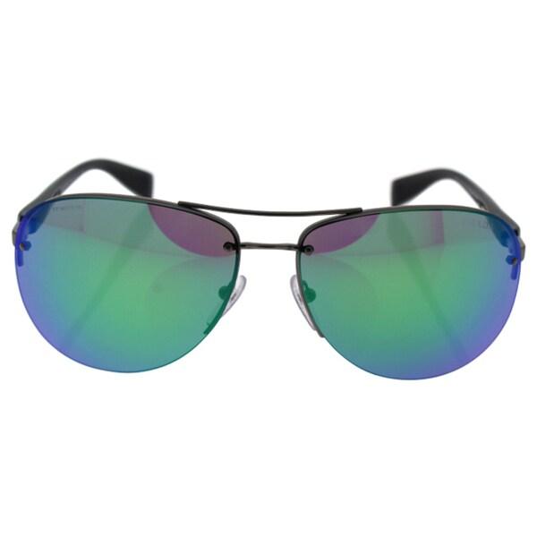 df79e83b9b775 clearance prada sps 56m 5as1m2 unisex black light green purple sunglasses  e8176 1703e