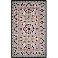 Safavieh Handmade Bellagio Light Blue/ Black Wool Rug - 8' x 10'