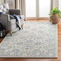 Safavieh Handmade Blossom Ivory/ Blue Wool Rug - 8' x 10'