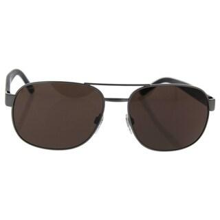 Burberry Be 3083 1008/5W - Men's Brushed Gunmetal/Dark Brown Sunglasses