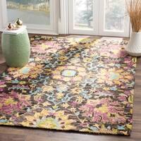 Safavieh Handmade Blossom Charcoal/ Multi Wool Rug - 8' x 10'