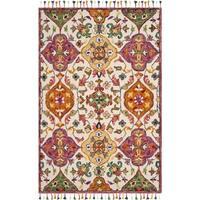 Safavieh Handmade Blossom Ivory/ Multi Wool Rug - 8' x 10'