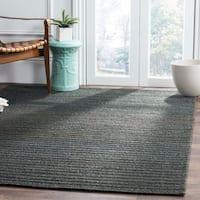 Safavieh Hand-Woven Cape Cod Dark Green Cotton Rug - 8' x 10'