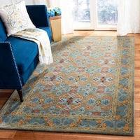 Safavieh Handmade Heritage Sage/ Blue Wool Rug - 8' x 10'