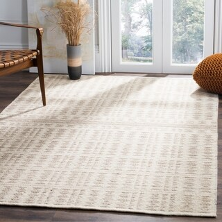 Safavieh Hand-Woven Kilim Ivory/ Light Grey Wool Rug (8' x 10')