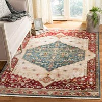 Safavieh Kashan Blue/ Red Rug - 9' x 12'