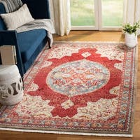 Safavieh Kashan Red/ Blue Rug - 9' x 12'