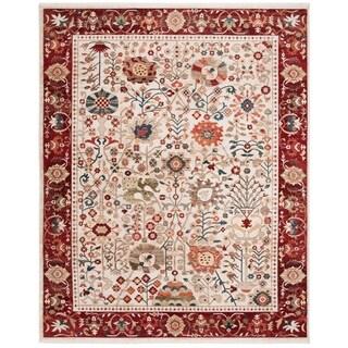Safavieh Kashan Ivory/ Red Rug (8' x 10')