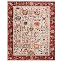 Safavieh Kashan Ivory/ Red Rug - 8' x 10'