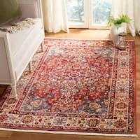 Safavieh Kashan Red/ Ivory Rug (8' x 10')