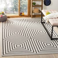 Safavieh Linden Light Grey/ Charcoal Rug (8' x 10')