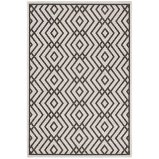 Safavieh Linden Light Grey/ Charcoal Rug (8' x 10')