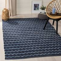 Safavieh Hand-Woven Montauk Turquoise/ Blue/Black Cotton Rug - 8' x 10'