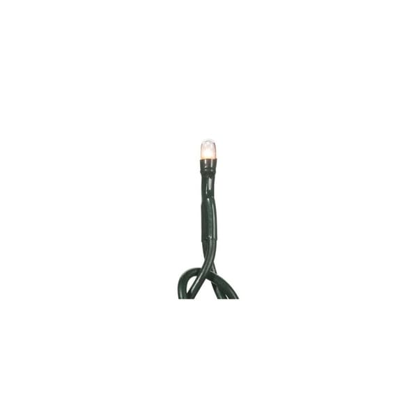 set of 20 battery operated clear micro rice christmas lights green wire