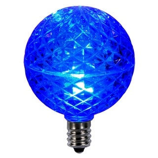 Club Pack of 25 LED G50 Blue Replacement Christmas Light Bulbs - E12 Base