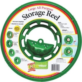Large Green Christmas Light Storage Reel with Center Handle