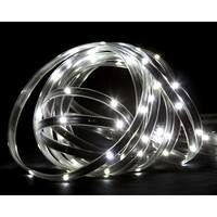18' Pure White LED Indoor/Outdoor Christmas Linear Tape Lighting - Black Finish