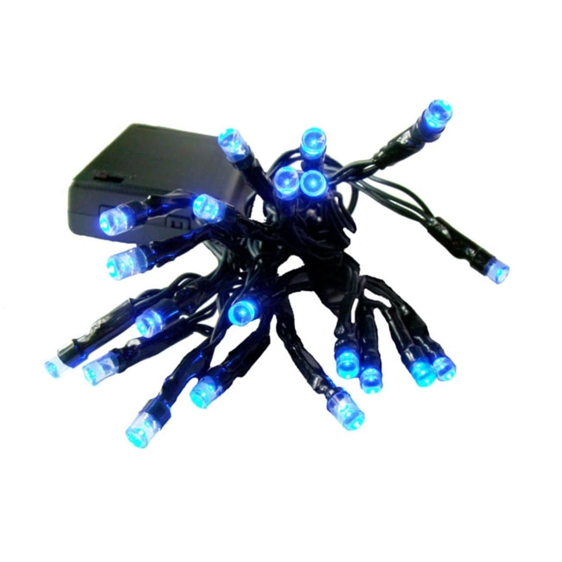 Sienna Set of 20 Battery Operated Blue LED Wide Angle Chr...