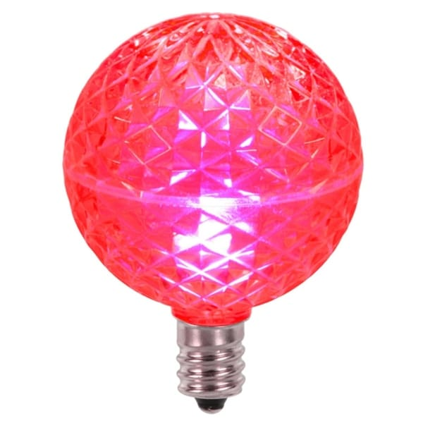 club pack of 25 led g50 pink replacement christmas light bulbs e12 base