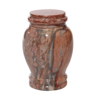 Polished Marble Decorative Cremation Urn with Lid, Pink https://ak1.ostkcdn.com/images/products/17336386/P23581628.jpg?impolicy=medium