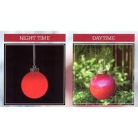 Set of 3 LED Lighted Red Battery Operated Shatterproof Christmas Ball Ornament Lights