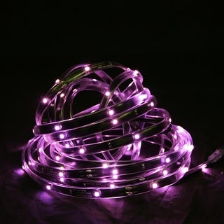 18' Pink LED Indoor/Outdoor Christmas Linear Tape Lighting - Black Finish