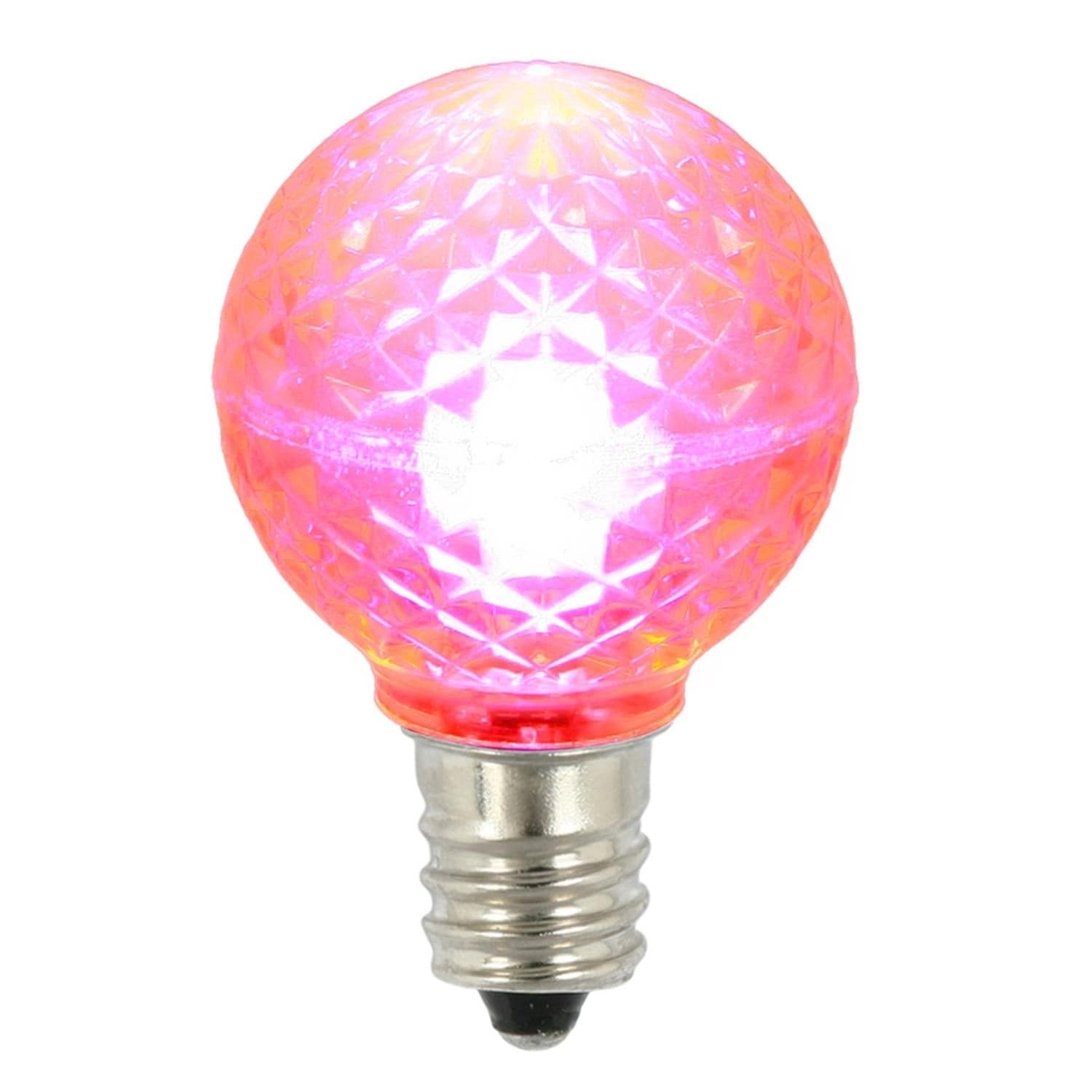 VCO Pack of 25 LED G30 Pink Replacement Christmas Light B...