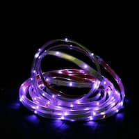 18' Purple LED Indoor/Outdoor Christmas Linear Tape Lighting - White Finish