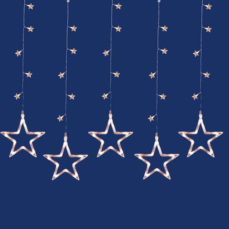 Penn Set of 100 LED Clear Star Silhouette Window Curtain ...