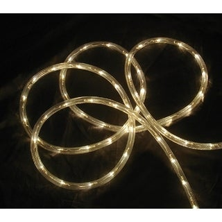 18' Warm Clear LED Indoor/Outdoor Patio Christmas Rope Lights