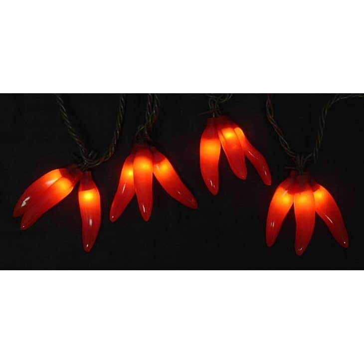 Sienna Set of 36 Red Chili Pepper Cluster Christmas Light...