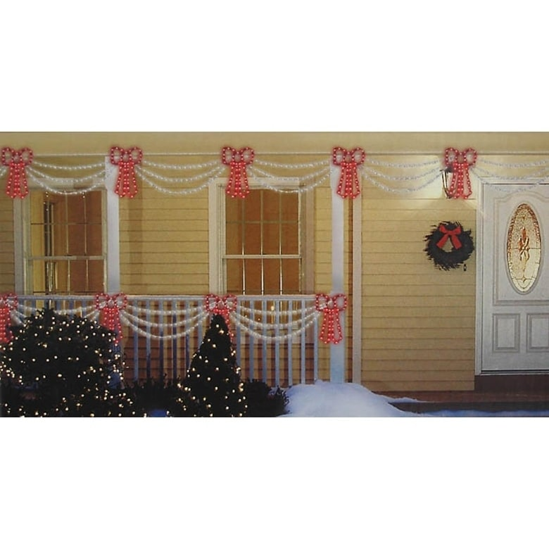 Sienna Set of Swag Style Christmas Lights with Red Shimme...