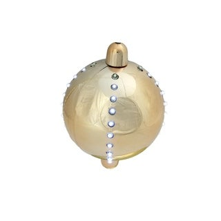 """5"""" Battery Operated LED Lighted Cascading Copper Gold Sphere Christmas Ball Decoration"""