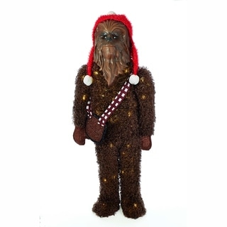 Kurt Adler 36-inch Star Wars Chewbacca Tinsel Lawn Decor