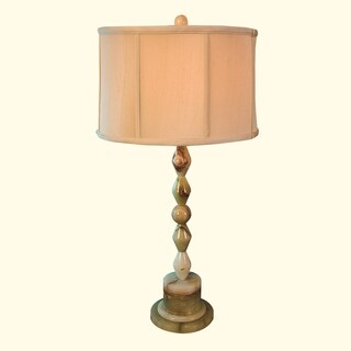 "31.5"" Tall Onyx Table Lamp ""Messier"" with Linen Shade, Chartreuse"