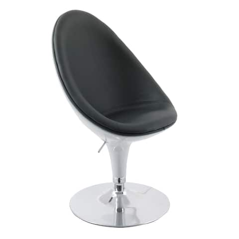 Porch & Den Oakesdale Bonded Leather Adjustable Ellipse Chair