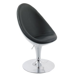 Porch & Den Oakesdale Bonded Leather Adjustable Ellipse Chair