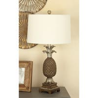 Studio 350 Set of 2, PS Pineapple Lamp 28 inches high