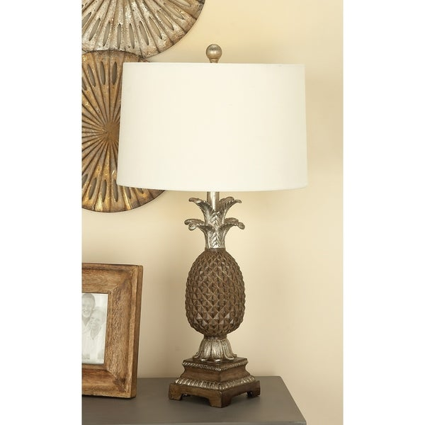 Studio 350 Set of 2, PS Pineapple Lamp 28 inches high. Opens flyout.
