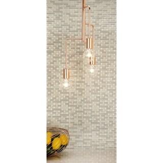 Contemporary 22 X 9 Inch 3-Bulb Metal Pendant Light by Studio 350