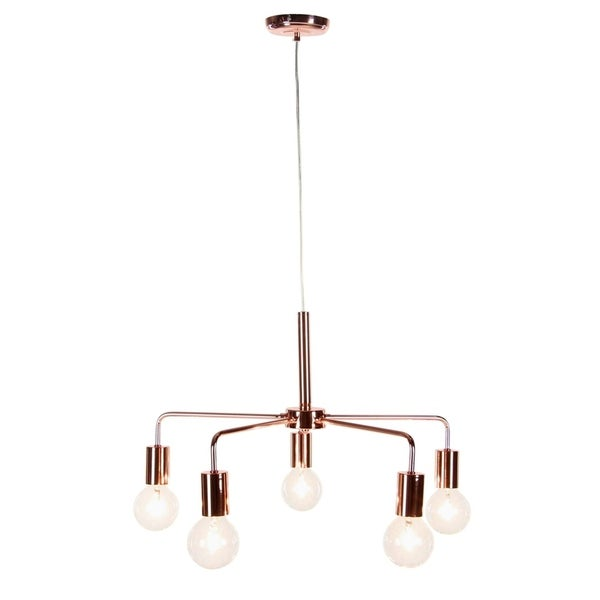 Studio 350 Metal 5 Lit Pendant W Bulb 21 inches wide, 11 inches high
