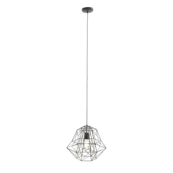 Contemporary 92 Inch Black Wire Cage Pendant Light by Studio 350