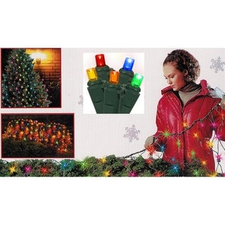 4' x 6' Multi-Color Wide Angle Net Style LED Christmas Lights - Green Wire