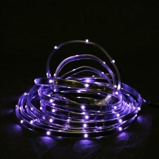 18' Purple LED Indoor/Outdoor Christmas Linear Tape Lighting - Black Finish