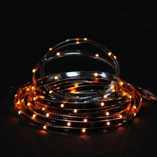 18' Orange LED Indoor/Outdoor Christmas Linear Tape Lighting - Black Finish